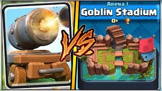 CANNON CART TROLLING ARENA 1 IN CLASH ROYALE | FUNNY MOMENTS & CANNON CART GAMEPLAY!