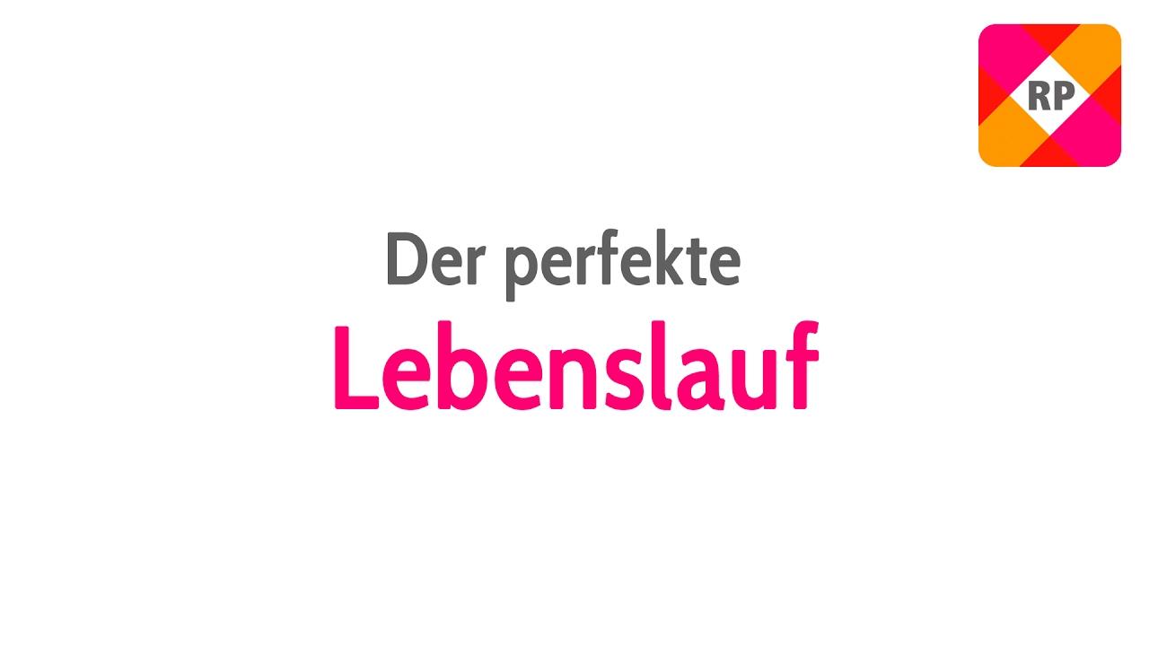 DER PERFEKTE LEBENSLAUF | Tipps und Tricks für die Bewerbung - YouTube