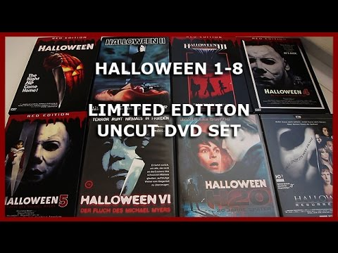 halloween 1 8 limited uncut dvd set unboxing complete collection movie unboxing hd