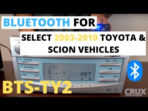 Crux BTSTY2 Bluetooth Streaming For Toyota /& Scion Vehicles 2003-2010