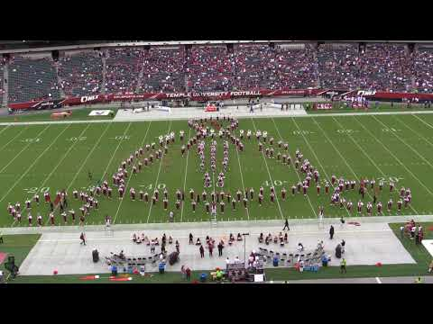 Temple Marching Band does Panic! At The Disco to kick off the season