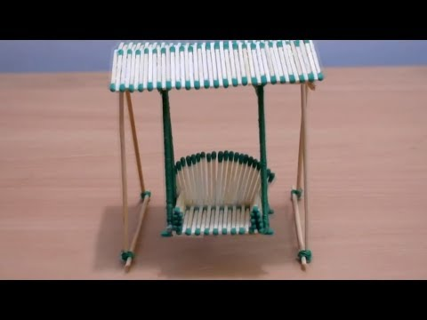 Как сделать скамейку из зубочисток