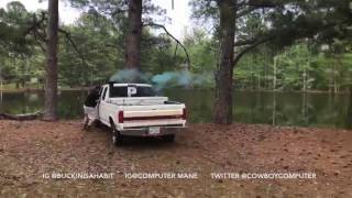 Baby Gender Reveal goes wrong. Truck hits tree a goes into the lake.