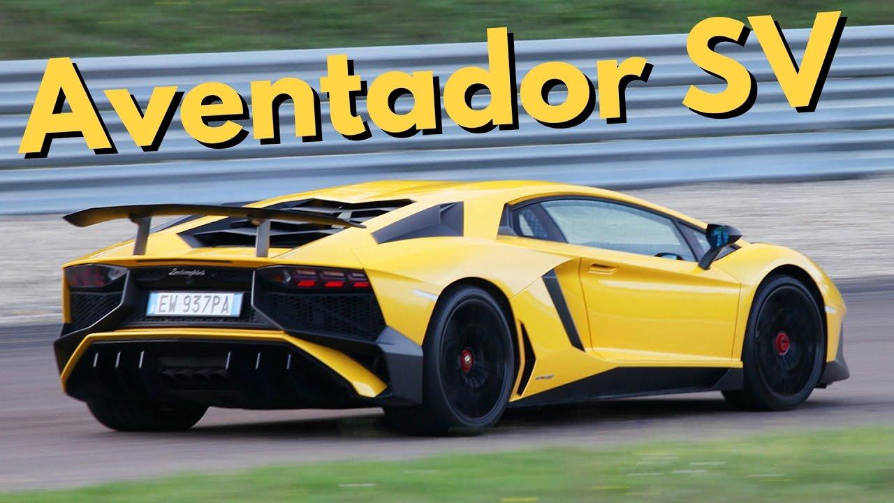 Lamborghini Aventador Sv On Track On Board Camera Amp Pure