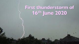 First thunderstorm of 16 June 2020 (Manchester, UK)