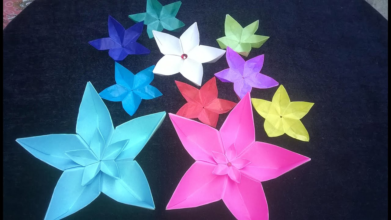 How to make origami flowers paper flowers making at home you youtube premium mightylinksfo