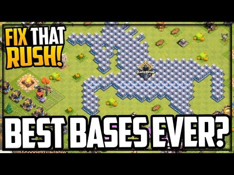 BEST Bases Ever? Links! Clash Of Clans Fix That Rush #82