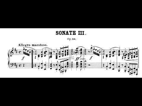 Chopin: Sonata No.3 in B Minor, Op.58 (Fialkowska, Kissin)
