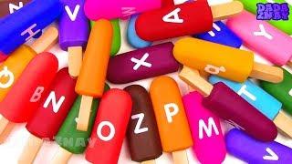 Учим английский алфавит с мороженым для детей Учим цвета мороженого Учим буквы английского алфавита