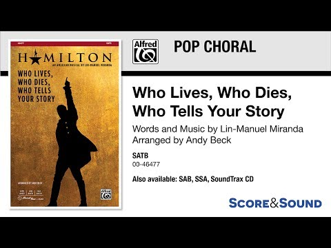 Who Lives, Who Dies, Who Tells Your Story, arr. Andy Beck – Score & Sound