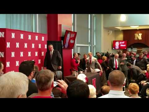 Scott Frost Surprised By Teammates In Weight Room Before Conference on Sunday 12-3-17