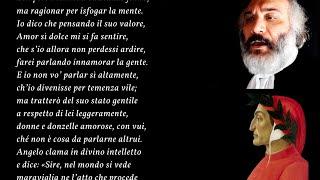 "Mario giacalone legge ""donne ch'avete intelletto d'amore"" di dante alighieri, da ""vita nuova"", cap. xix.donne d'amore è una canzone so..."