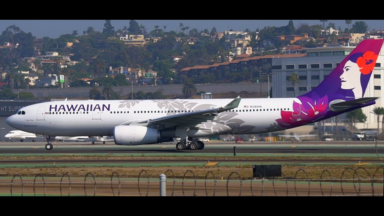 Hd New Livery Hawaiian Airlines Airbus A330 200 Takeoff