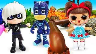Игры с Героями в Масках- Кэтбой, Гекко и Алет помогают игрушкам! – Сборник видео про игрушки онлайн