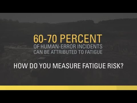 Measuring Fatigue Risk with Technology