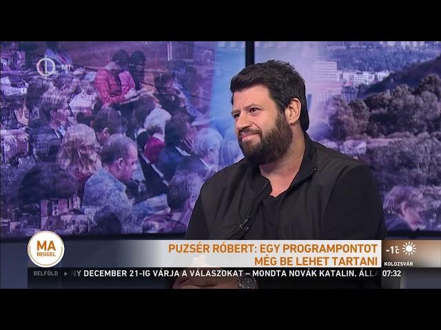 Puzsér Róbert a köztévében   2018.11.09.