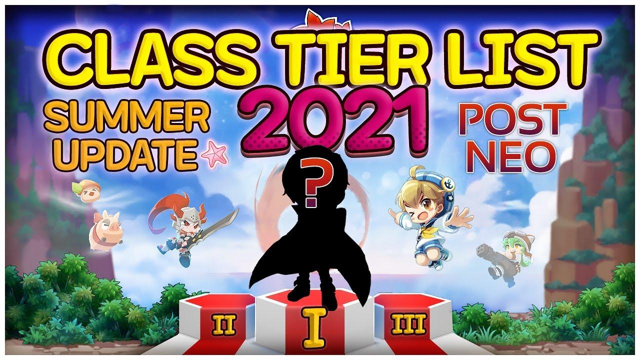 Maplestory - 2021 Full Classes Tier List POST NEO + KAIN