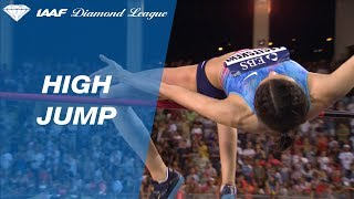 Mariya Lasitskene 2.05 to win the Women's High Jump - IAAF Diamond League Monaco 2017