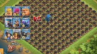 COC All Troops! Who Can Survive This Difficult Trap On COC? Trap VS Troops #coco4  Chip GamePlays