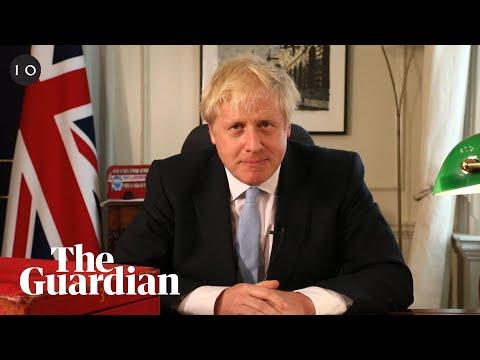 Boris Johnson's Facebook Live policy announcement from his desk