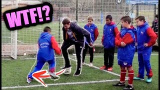 MEGGING KIDS IN ARGENTINA CLUBS!! (Young Messi, Ronaldo, Neymar) | Football Panna Challenge