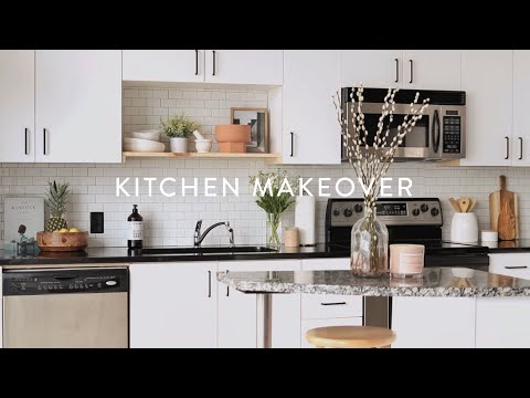 minimalist-diy-kitchen-remodel-|-paint-cabinets-white-small-kitchen-ideas-on-a-budget