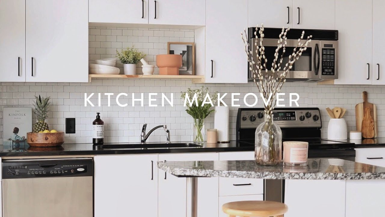 Minimalist Diy Kitchen Remodel Paint Cabinets White Small Kitchen Ideas On A Budget Youtube