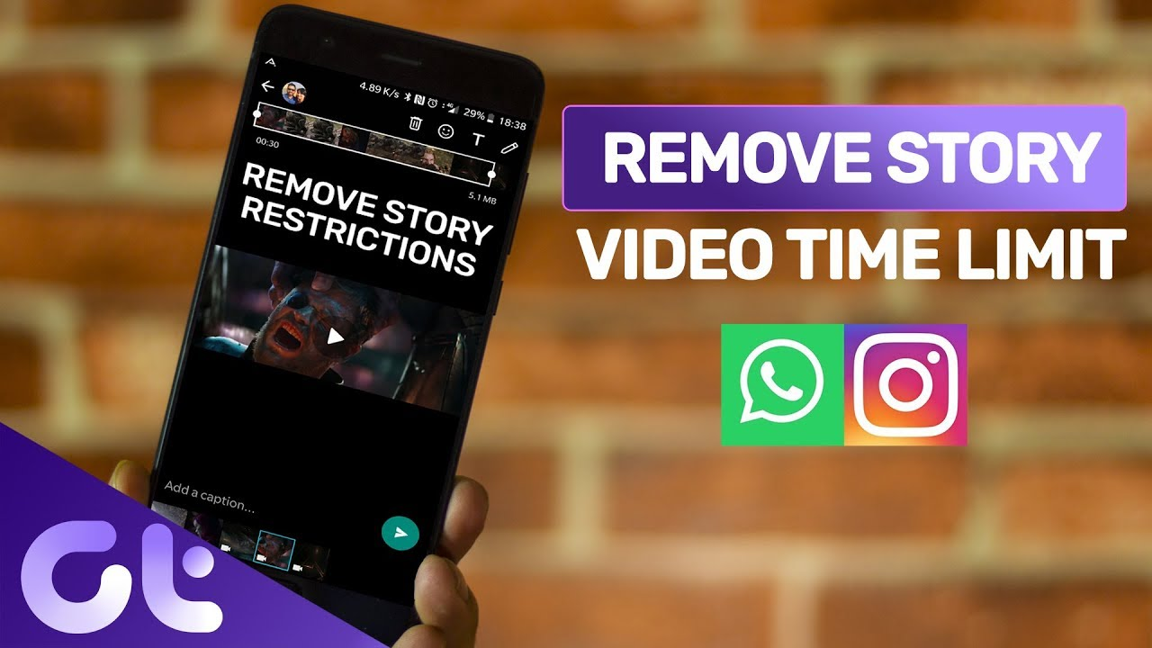 How To Upload Long Videos On Whatsapp Status And Instagram Story Android Guiding Tech