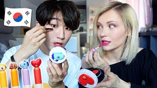 Boyfriend VS Girlfriend Korean Makeup Challenge