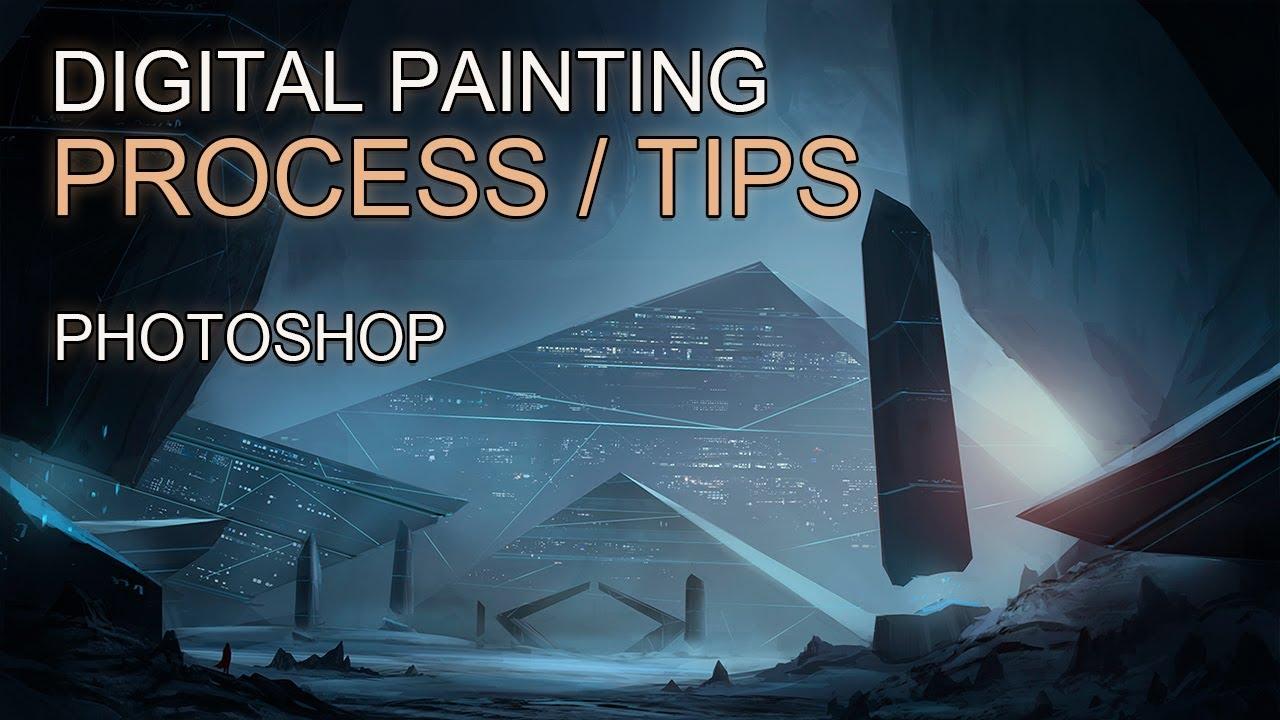 digital painting landscape concept art time lapse youtube