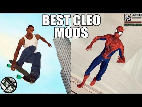 GTA San Andreas TOP CLEO Mods - Spiderman, Car Spawner, Skateboard