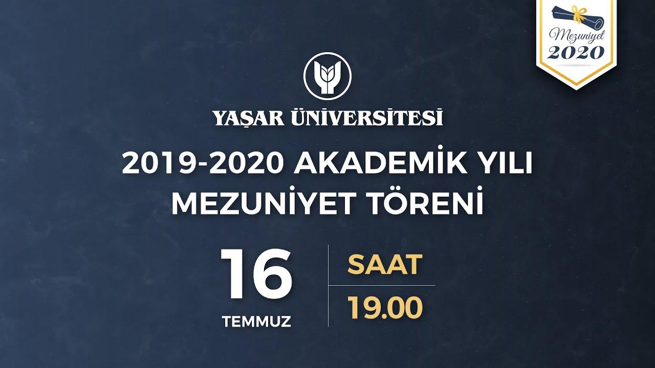 yasar universitesi 2019 2020 cevrimici mezuniyet toreni