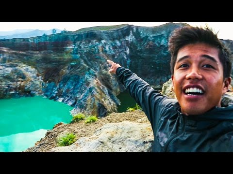 124   DRONE NEARLY FELL INTO MOUNT KELIMUTU!!!!! (Southeast Asia Travel VLOG)