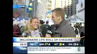 BCLC Millionaire Life: Wall of Cheques on CityTV Lunch Television