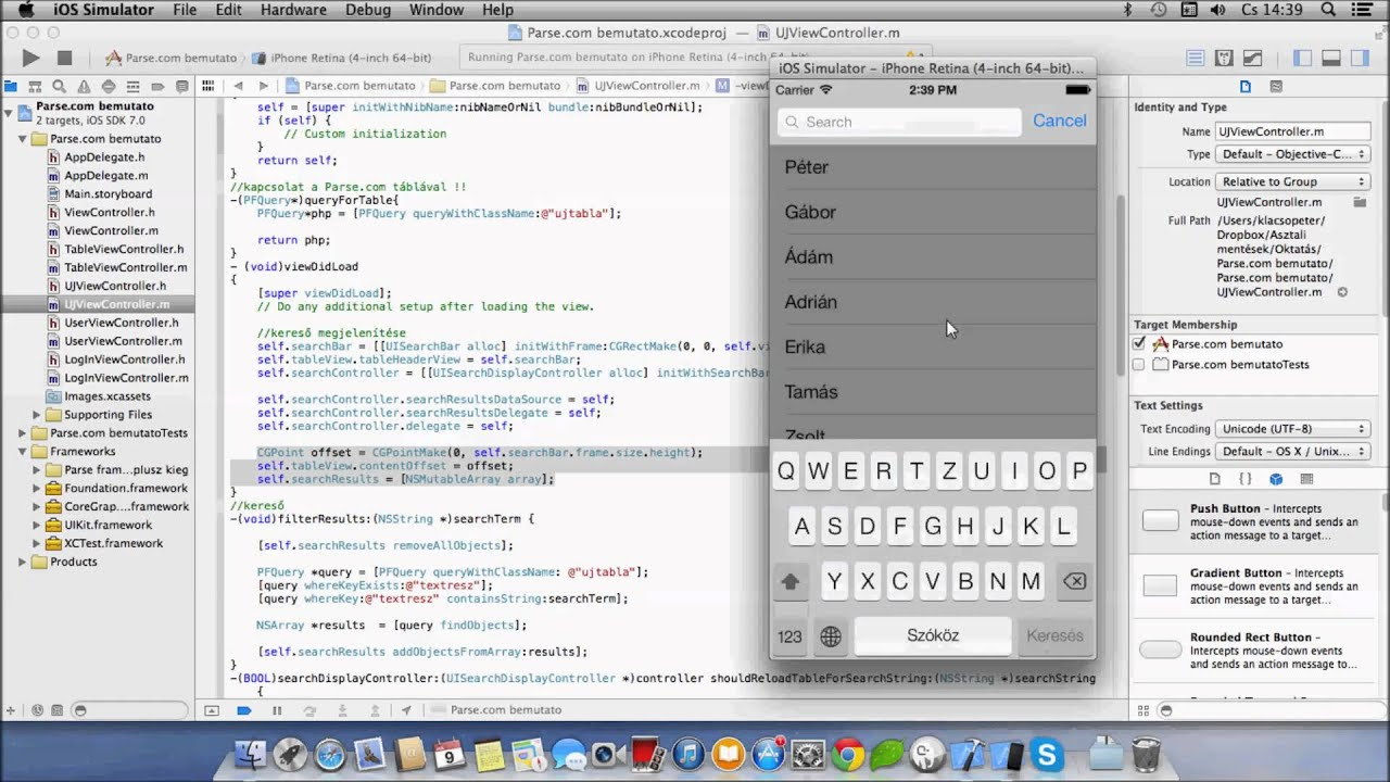 Pecsxcode xcode 5 tutorial searchbar doovi for Xcode 6 tableview