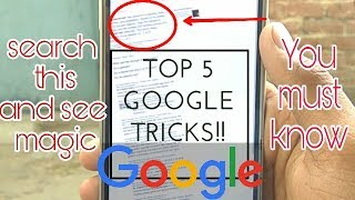 5 Google tricks you must know!! || techfacts #1 google easter eggs google chrome cool biz 2020 2019