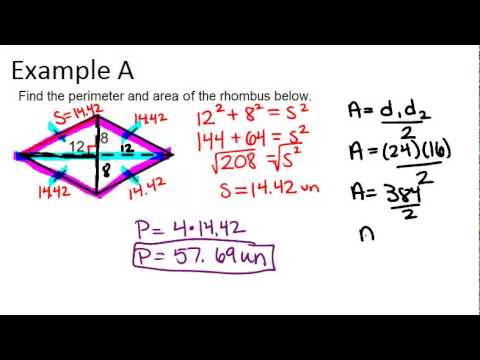 Area and Perimeter of Rhombuses and Kites: Examples ... | 480 x 360 jpeg 15kB