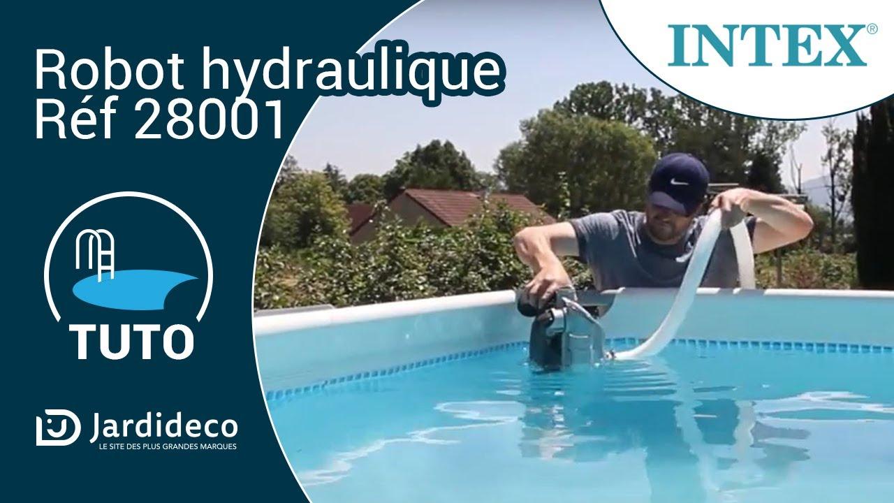 Test En Piscine Du Robot Hydraulique Intex Ref 28001 Youtube