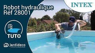 Test en piscine du robot hydraulique Intex - Réf 28001