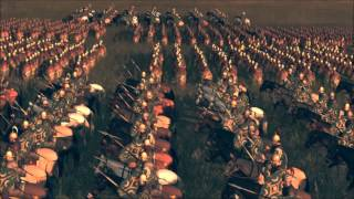 The Roman Legions Marching to a Historical Battle to come