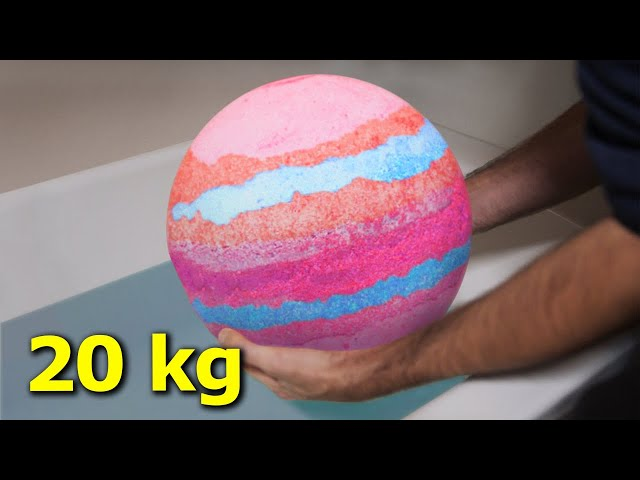 Vyrobil jsem největší šumivou bombu do vany na světě