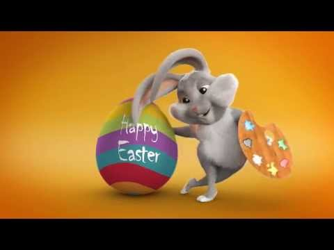 EASTER BUNNY ANIMATION GREETING CARD AFTER EFFECTS TEMPLATE – Easter Greeting Card Template