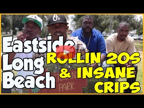 Long Beach 20s Crips with Insane Crip together at Veterans Park (pt.1of2)