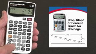 Construction Master Pro DT Drop or Slope Calculations How To