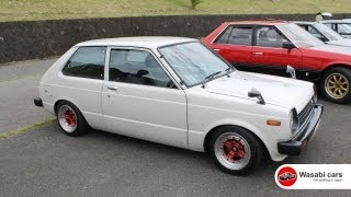 A bug-eyed, 3-door KP61 Toyota Starlet S from 1979