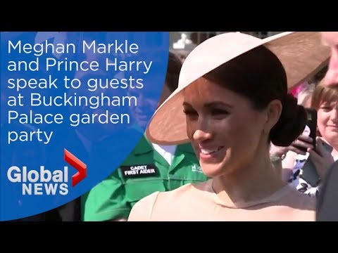Prince Harry, Meghan Markle attend garden party for Prince Charles
