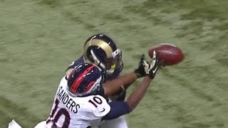 Emmanuel Sanders Gets Blown Up by Rams' Rodney McLeod HD