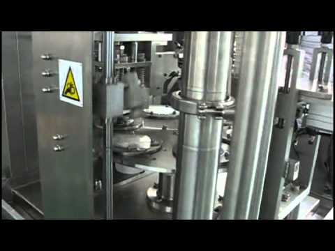 rotary cup filler sealer 1 cup with coder