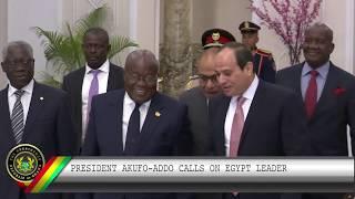 President Akufo-Addo meets Egyptian President