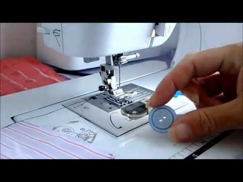 How to sew on a button using your sewing machine